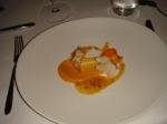 Sort hummer — græskar & gulerødder i havtorn juice