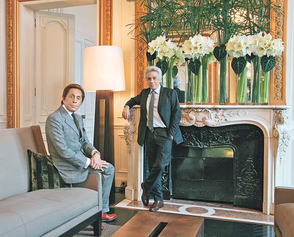 Valentino med sin man Giancarlo